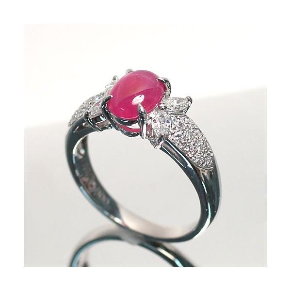 スタールビー指輪1.639ctプラチナダイヤリング ルース鑑別書付 スターが美しく浮かび上がる|wizem|04