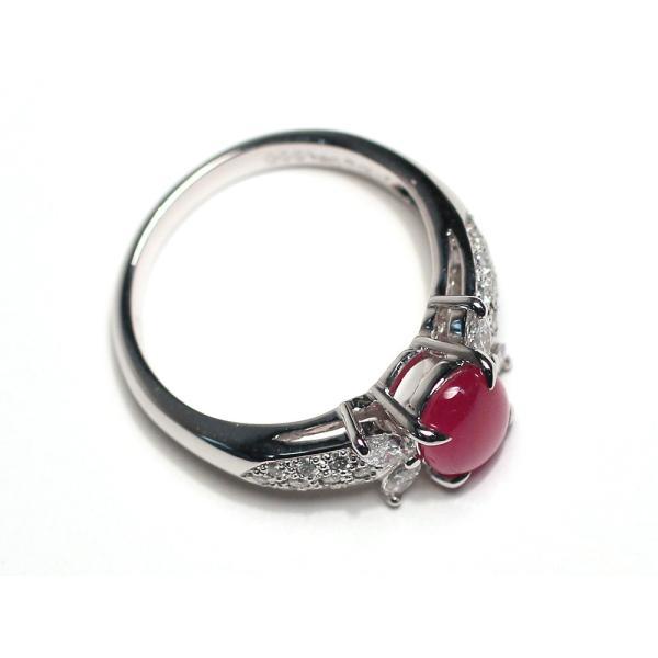 スタールビー指輪1.639ctプラチナダイヤリング ルース鑑別書付 スターが美しく浮かび上がる|wizem|07