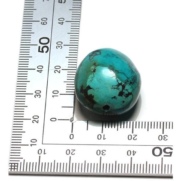 トルコ石13g 約24.5mm×22.3mm×18mm 貫通穴あき|wizem|05