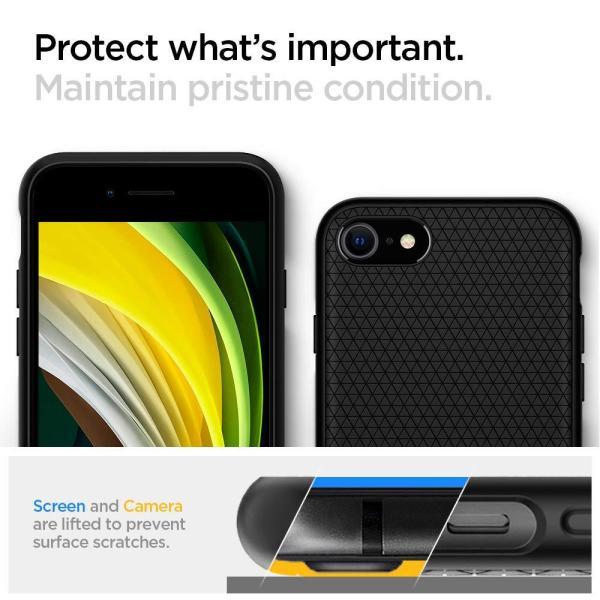 スマホケース Spigen シュピゲン iPhone 8 / 7 リキッドエアー ブラック 042CS20511|wlo|05