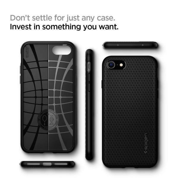 スマホケース Spigen シュピゲン iPhone 8 / 7 リキッドエアー ブラック 042CS20511|wlo|07