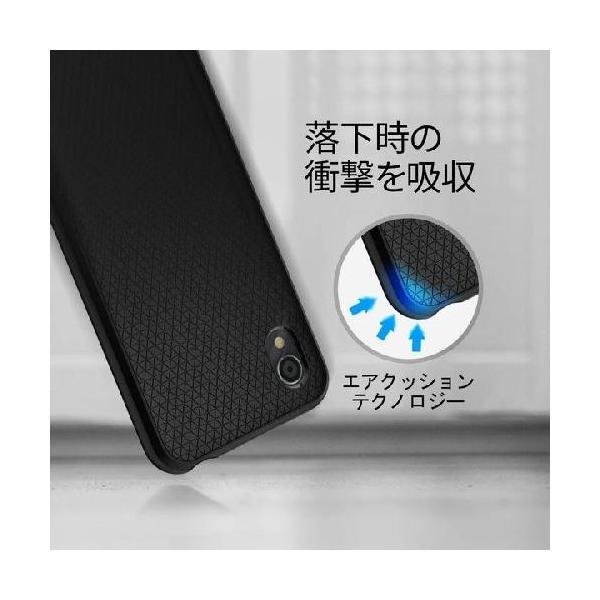 スマホケース Spigen AQUOS sense2 / Android One S5  リキッド エアー S25CS25531 マット ブラック|wlo|03