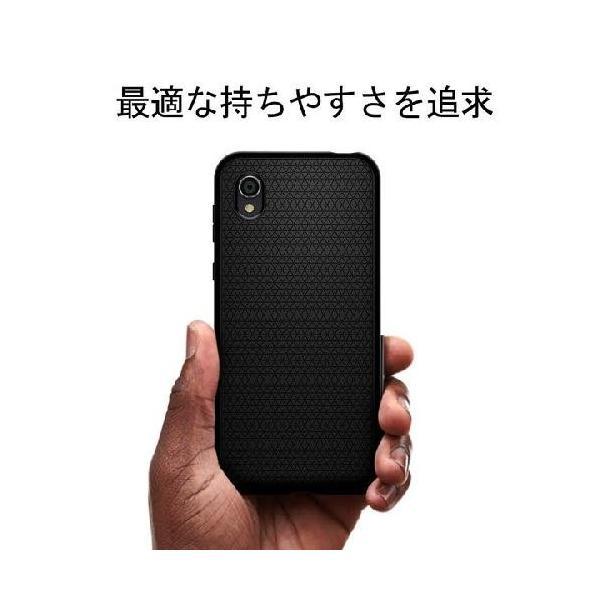 スマホケース Spigen AQUOS sense2 / Android One S5  リキッド エアー S25CS25531 マット ブラック|wlo|06