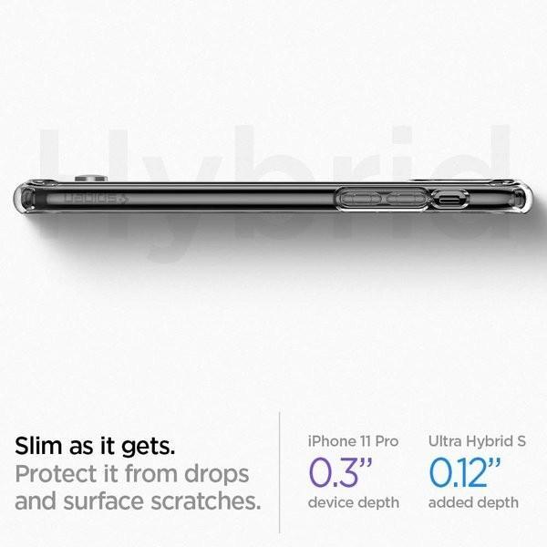 スマホケース Spigen iPhone 11 Pro 5.8インチ スタンド付  ウルトラ ハイブリッド S 077CS27443 クリスタル クリア|wlo|04