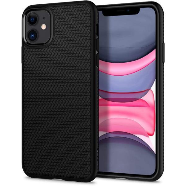 スマホケース Spigen iPhone 11 6.1インチ TPU リキッド エアー 076CS27184 マット ブラック|wlo