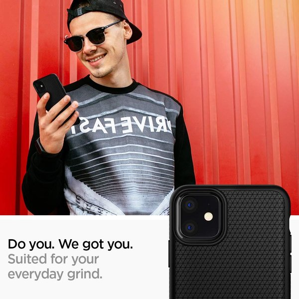 スマホケース Spigen iPhone 11 6.1インチ TPU リキッド エアー 076CS27184 マット ブラック|wlo|02