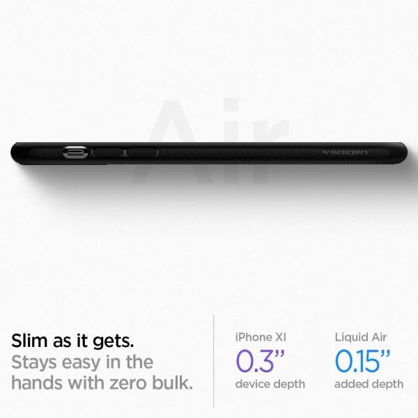 スマホケース Spigen iPhone 11 6.1インチ TPU リキッド エアー 076CS27184 マット ブラック|wlo|04