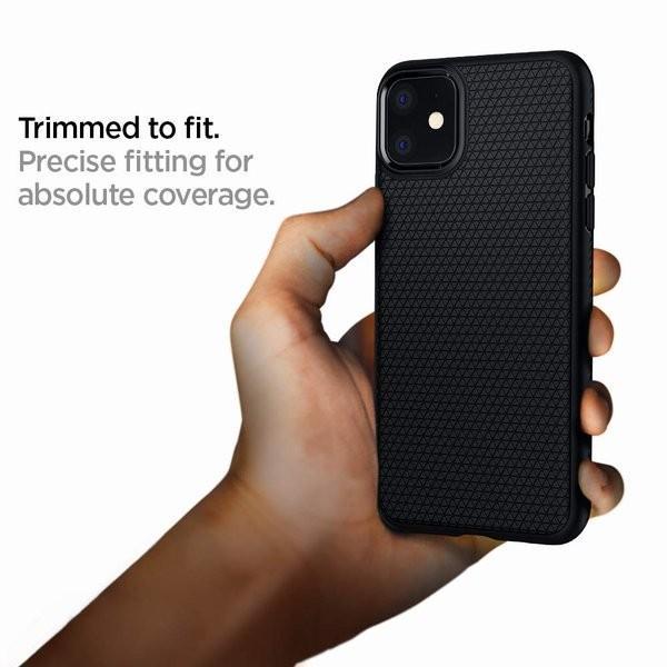 スマホケース Spigen iPhone 11 6.1インチ TPU リキッド エアー 076CS27184 マット ブラック|wlo|05