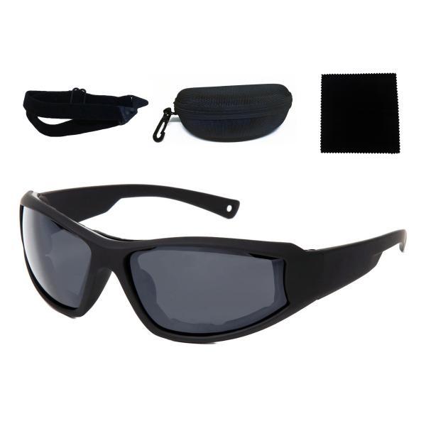 防風パッド装備バイクオートバイ用サングラスゴーグル男女兼用y175(ブラック/グレー)