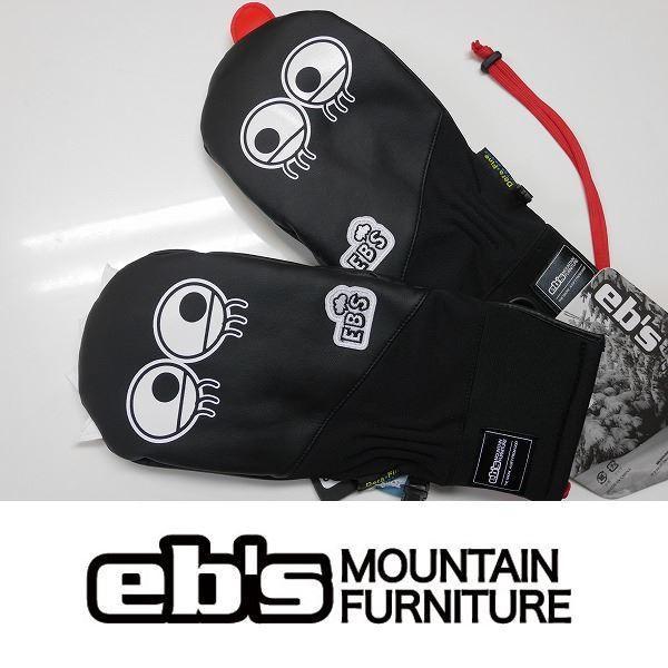 21 ebs エビス スノーボード グローブ HARUSAKI-MITT KEMONO CHAN - BLACK - 国内正規品