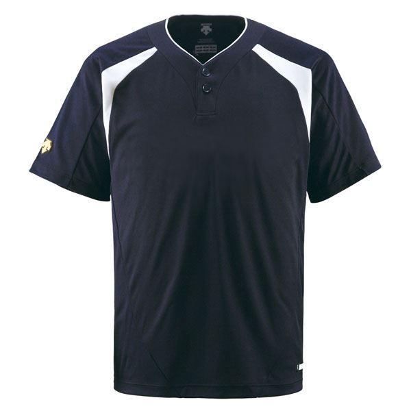 デサント(DESCENTE) ベースボールシャツ(2ボタン) (野球) DB205 Dネイビー XA