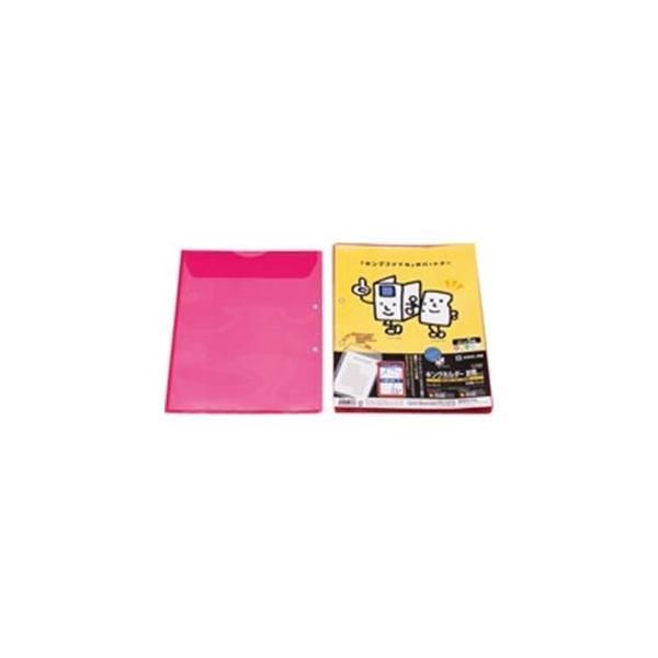 (まとめ)キングジム キングホルダー封筒 782-10 A4S 赤 10枚〔×10セット〕