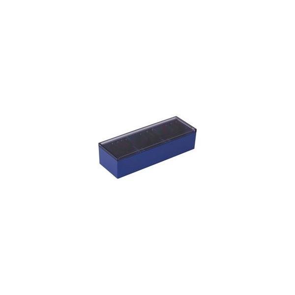 (まとめ)キングジム 名刺整理箱 75 青〔×3セット〕
