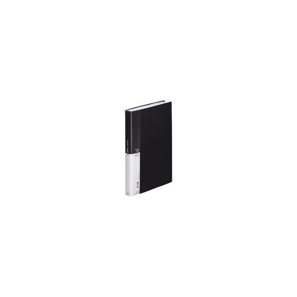 (業務用5セット) LIHITLAB 名刺ホルダー/名刺ファイル 〔A4〕 片面ポケット ヨコ入れ A-946 黒