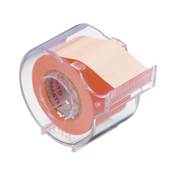 (まとめ) ヤマト メモックロールテープ 本体(蛍光紙) SR-25CH-OR オレンジ 1個入 〔×10セット〕