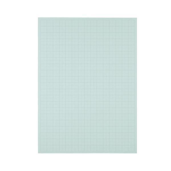 (まとめ) TANOSEE 模造紙(プルタイプ) 本体 788×1085mm 50mm方眼 ブルー 1ケース(20枚) 〔×5セット〕