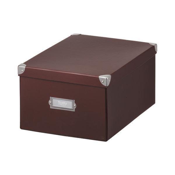 (まとめ) キングジム Toffy マジックボックス L ショコラブラウン TMX-002N-CBR 1個 〔×5セット〕