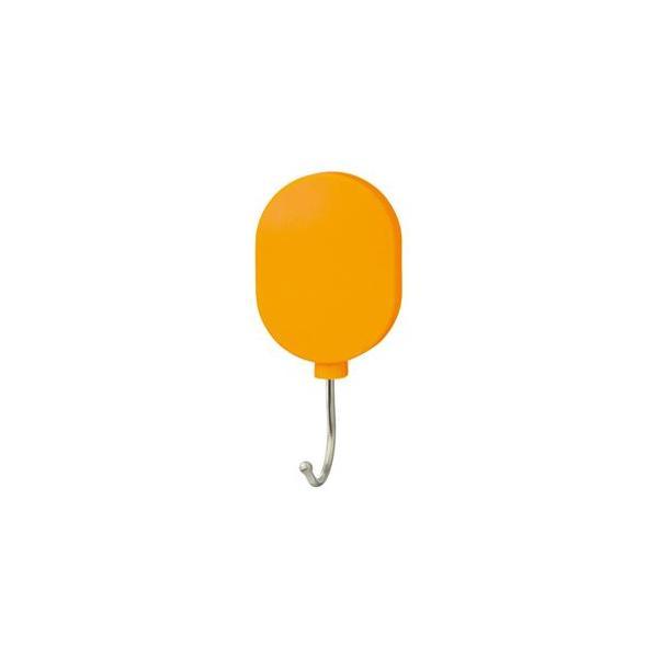 (まとめ) ミツヤ プラマグネットフック スイング式 耐荷重約7Kg オレンジ PMHRL-OR 1個 〔×10セット〕