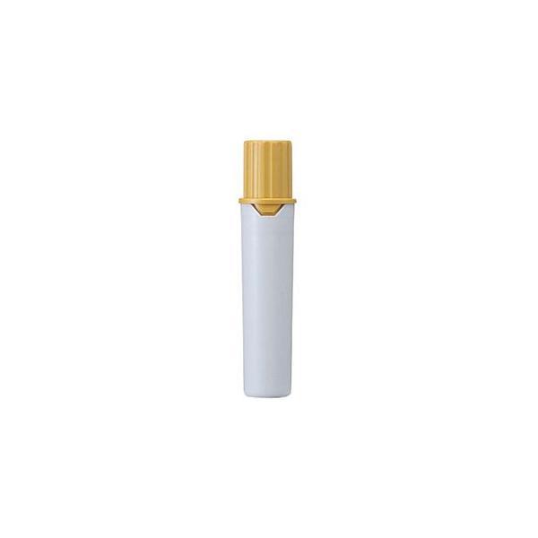 (まとめ) 三菱鉛筆 水性マーカー プロッキー詰替えタイプ用インクカートリッジ 太字角芯+細字丸芯 黄土色 PMR70.19 1本 〔×80セット〕