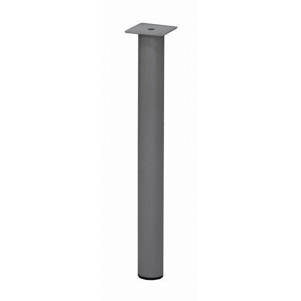 テーブルキッツ テーブル用丸脚 〔4本組み/50cm〕 シルバー スチール製 〔DIYキット 什器〕 脚のみ〔代引不可〕