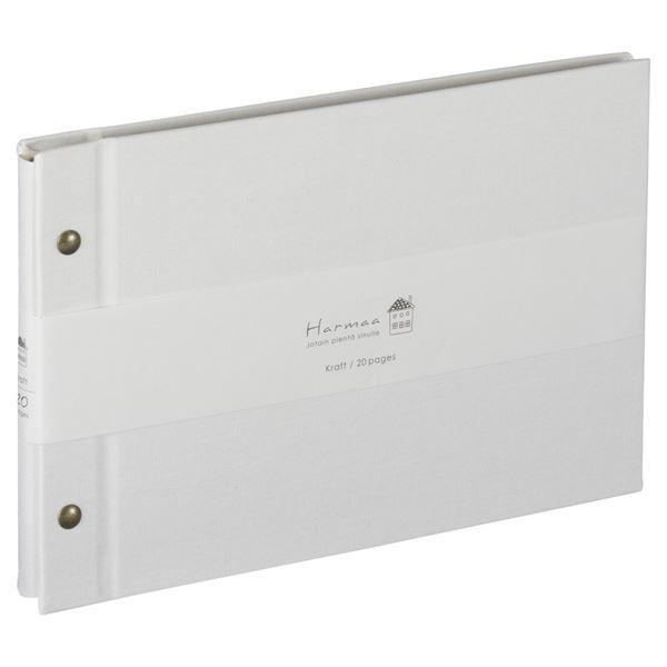 (まとめ) ハルマー フリーアルバム A-HRA5-101-W ホワイト〔×3セット〕