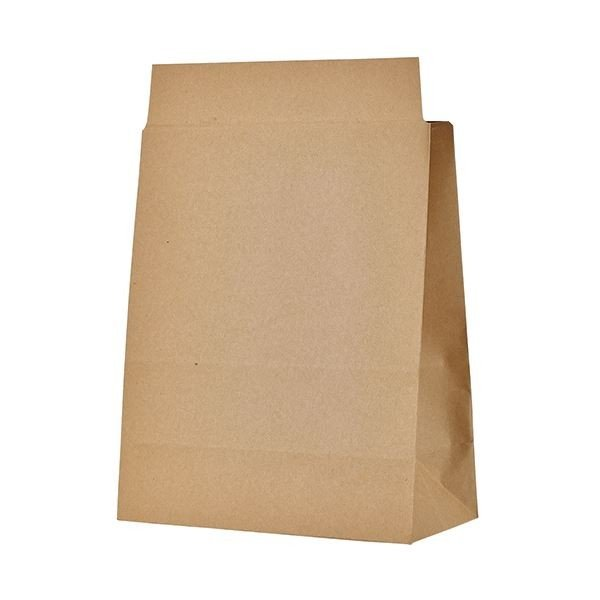 TANOSEE 宅配袋 マチ広 小 茶封かんテープ付 1セット(400枚:100枚×4パック)