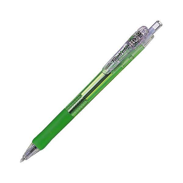 (まとめ) ゼブラ 油性ボールペン タプリクリップ0.7mm 黒 (軸色 緑) BN5-G 1本 〔×100セット〕