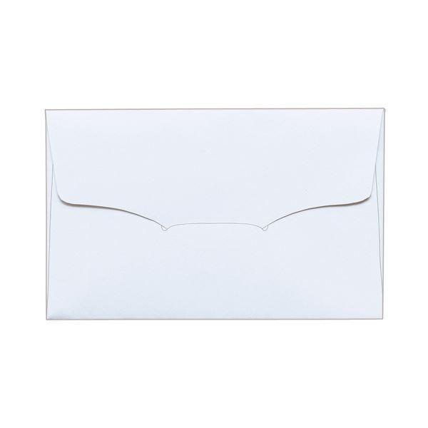 (まとめ) TANOSEE 名刺型封筒112×70mm 上質紙 104.7g 1パック(10枚) 〔×100セット〕