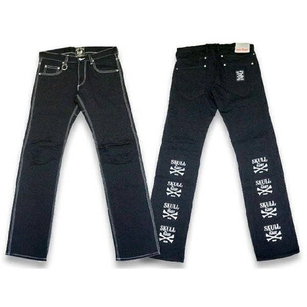 "全2色SKULL FLIGHT/スカルフライト「SS Pants Type6 Straight Cut""Stretch Black Denim Cus"