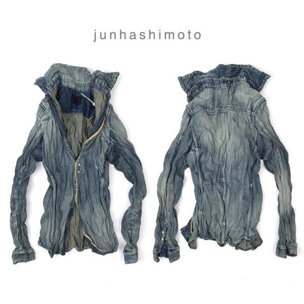 ジュンハシモト junhashimoto リンクルデニムシャツ WRINKLE DENIM SHIRTS 1060000005 2019春夏|womanremix|02