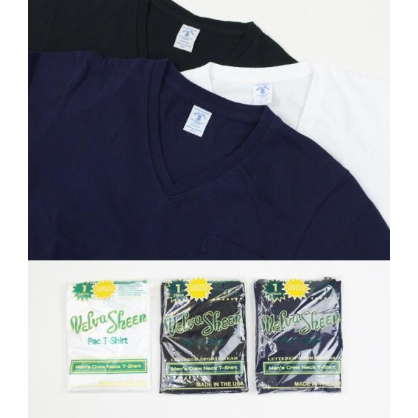 ベルバシーン Velva Sheen 限定カラー 1パック 半袖 Vネック ポケットTシャツ Limited Edition 1 PAC SS VN TEE WPK 1609202|womanremix|02