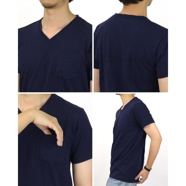 ベルバシーン Velva Sheen 限定カラー 1パック 半袖 Vネック ポケットTシャツ Limited Edition 1 PAC SS VN TEE WPK 1609202|womanremix|03