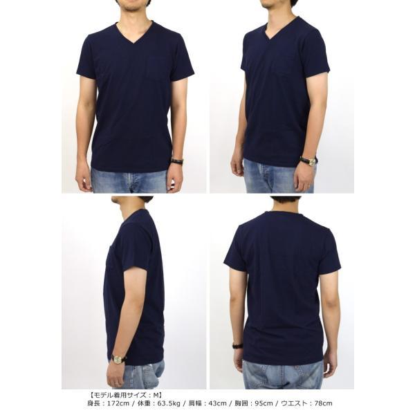 ベルバシーン Velva Sheen 限定カラー 1パック 半袖 Vネック ポケットTシャツ Limited Edition 1 PAC SS VN TEE WPK 1609202|womanremix|04