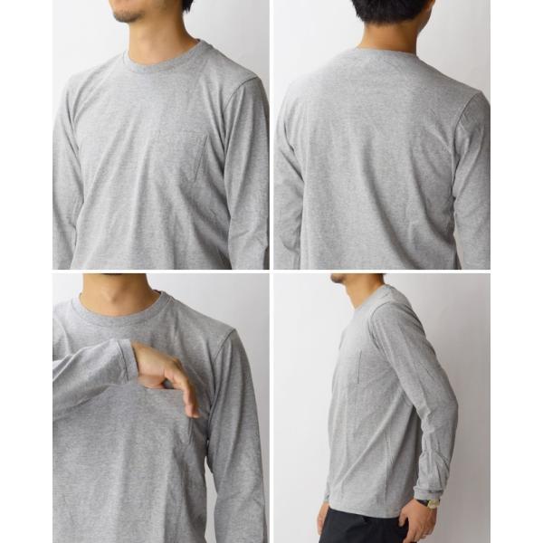 ベルバシーン Velva Sheen チューブ編みロングTシャツ TUBULER L/S TEE Tシャツ 無地 長袖 丸胴 160928|womanremix|04
