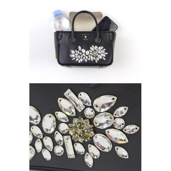 (ポイント10倍) ADMJ エーディーエムジェイ Libertysoft Swarovski・Crystals Micromini Totebag スワロフスキークリスタルミニトートバッグ 19AW01010|womanremix|05