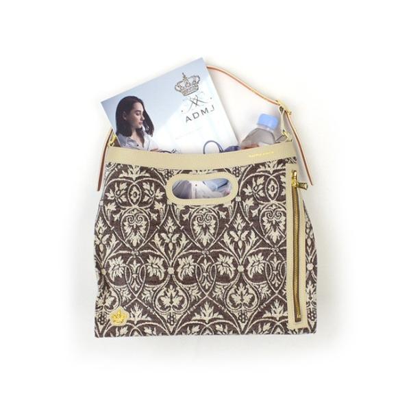 (ポイント10倍) ADMJ エーディーエムジェイJacquard Pattern One Shulderbag ジャガード柄 ワンショルダーバッグ 19AW01018|womanremix|05