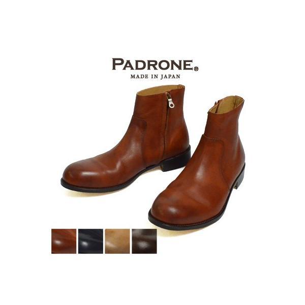 パドローネ PADRONE サイドジップブーツ SIDE ZIP BOOTS ラウル RAUL NO.PU7358-1118-15A|womanremix