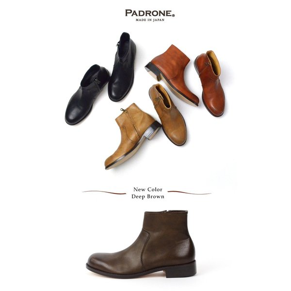 パドローネ PADRONE サイドジップブーツ SIDE ZIP BOOTS ラウル RAUL NO.PU7358-1118-15A|womanremix|02