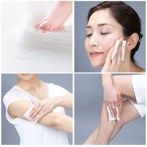 オールインワンコットンシート150枚 クレンジング 化粧水 乳液 美容液 業務用 日本製|wonderfuroom|04
