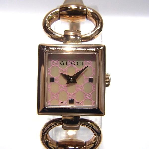 グッチ GUCCI トルナブォーニ 120 ピンクゴールド×シェル 時計 腕時計 レディース 【中古】【あすつく】