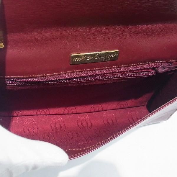 カルティエ Cartier マストライン ボルドー チェーン セカンド バッグ クラッチバッグ ユニセックス 【あすつく】