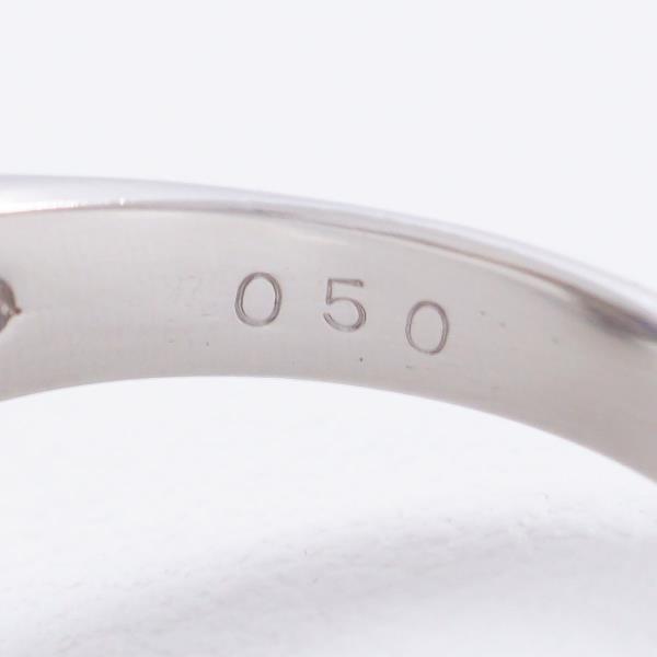 リング PT900 プラチナ 10.5号 サファイア ダイヤ 0.50 カード式鑑別書