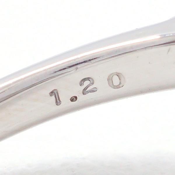 リング PT900 プラチナ 13号 ダイヤ 1.20 カード鑑別書