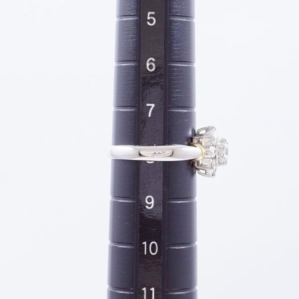 リング PT900 プラチナ K18YG 8号 ダイヤ 0.50