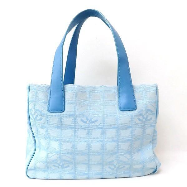 シャネル CHANEL ニュートラベル トートPM A20457 ブルー 水色 バッグ トートバッグ レディース 【あすつく】