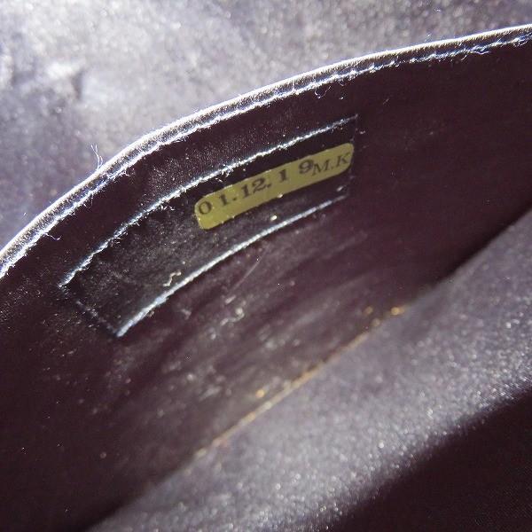 シャネル CHANEL サテン スエード 巾着 ナップサック ネイビー パールロゴ バッグ リュック レディース 【あすつく】
