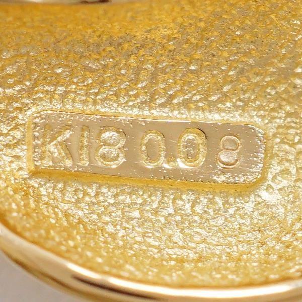 ブローチ K18 18金 YG イエローゴールド パール ダイヤ 0.08 カード鑑別書
