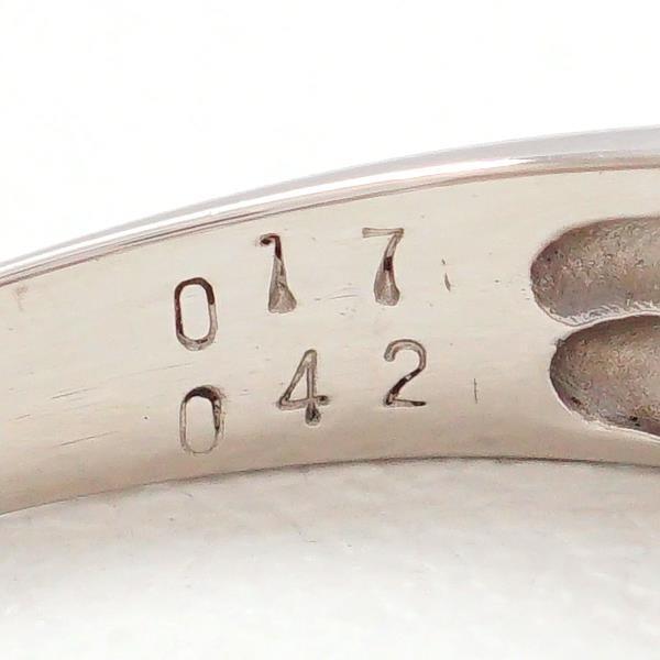 リング PT900 プラチナ 13号 ルビー 0.42 ダイヤ 0.17