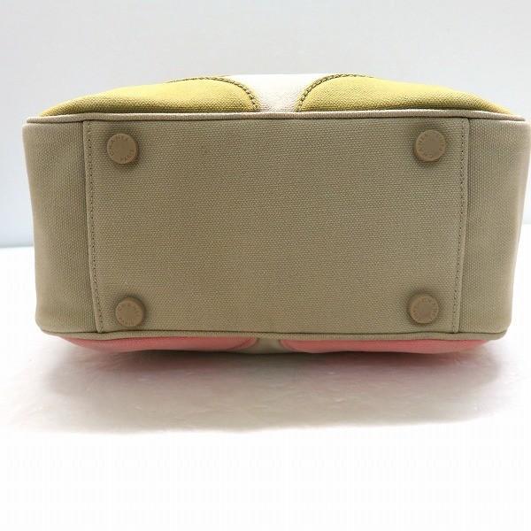シャネル CHANEL マシュマロ ハンドバッグ ベージュ ピンク グリーン キャンバス トート バッグ A24228 レディース 【あすつく】