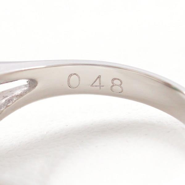 リング PT900 プラチナ 11.5号 エメラルド 0.64 ダイヤ 0.48